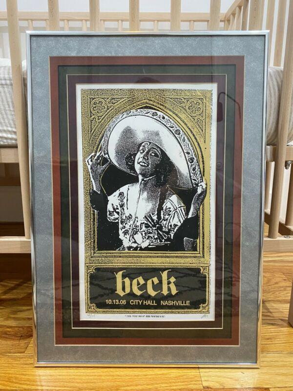 Beck Print Mafia signed and numbered Nashville Concert Print Framed