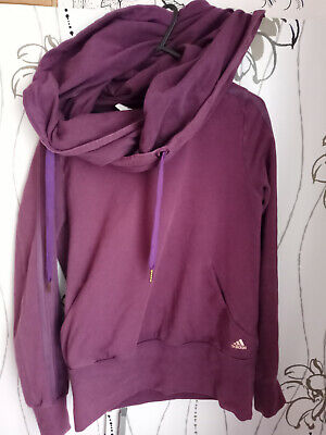 ADIDAS LADIES SPORT PURPLE JUMPER  SIZE 14 UK (SMALL)