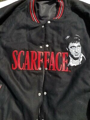 Scarface Wool Leather Jacket 6xl  JD Design