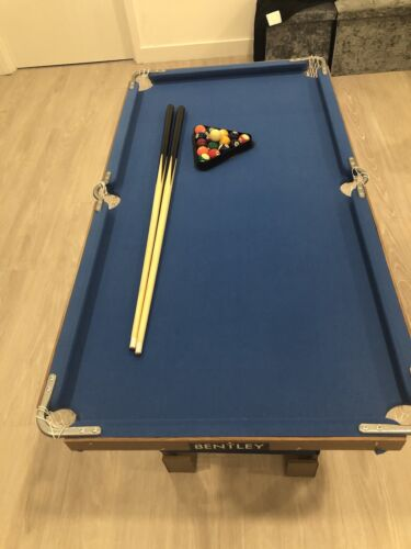Charles Bentley Junior 4ft American Pool Table With Pool Balls And 2 Cues +cov
