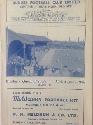 1958/9 DUNDEE V QUEEN OF THE SOUTH(LC)