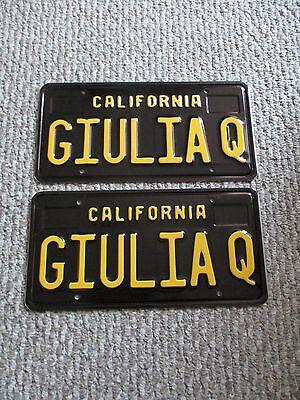 """""""GIULIA Q"""" California Black Plates,  Alfa Romeo Giulia"""