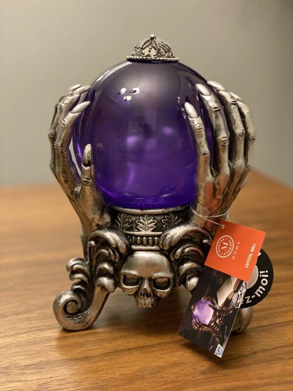 "Martha Stewart Halloween Crystal Ball illuminated Purple Spooky Sounds new 9"""