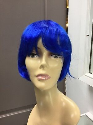 Cheap Blue Wigs (Blue FLASH Wig by REVLON Costume Fashion Fantasy)