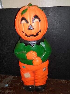 Pumpkin Scarecrow Halloween Blow Mold Don Featherstone Union Products Working