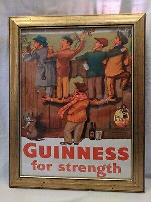 Guinness for Strength Vintage advertising poster art reproduction Tilted Kilt