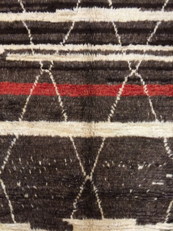 Miraculous Moroccan - Vintage Geometric Abstract Rug - Tribal Carpet 7.1 X 10.8