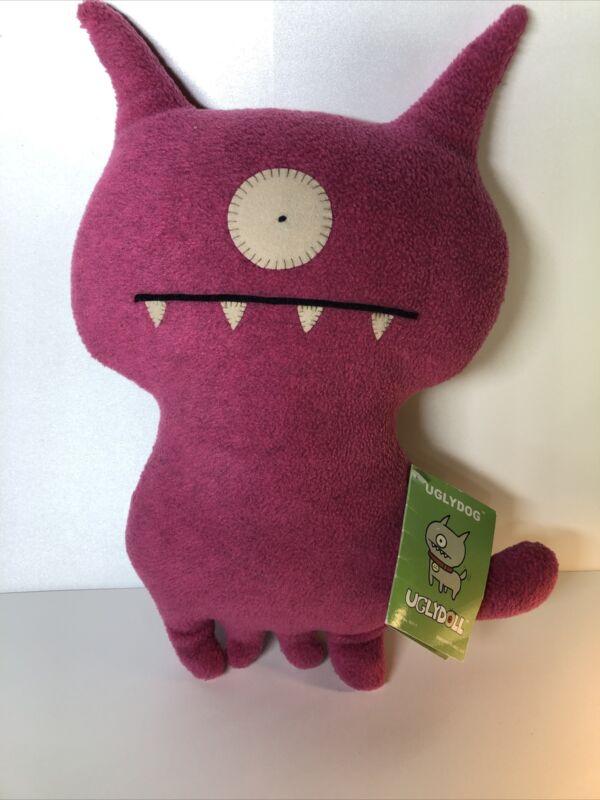 UGLYDOLL Rare ORIGINAL 2004 Uglydog  w/ Tags - Discontinued Pink style