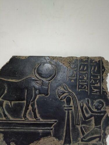 RARE ANTIQUE ANCIENT EGYPTIAN Statue Stela Goddess Hathor 1845-1755 Bc
