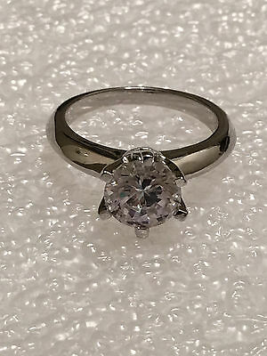 2 CT ROUND CUT DIAMOND SOLITAIRE ENGAGEMENT RING 14K WHITE GOLD ENHANCED 70