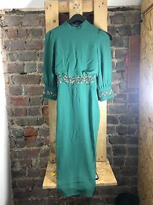 Hope And Ivy - Embellished Cuff - Pencil Dress - Green - Size S - New - I001