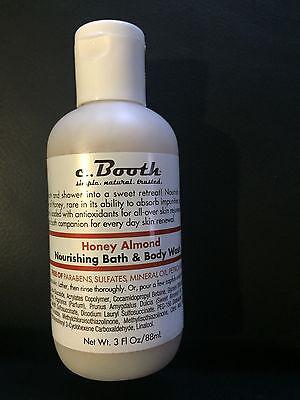 c. Booth HONEY ALMOND Nourishing Bath & Body Wash, 3-oz. Tra