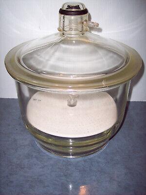 Vintage Pyrex Lab Glassware 3 Vacuum Desiccator 11 Wide