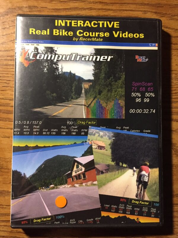 Interactive Real Bike Course Videos RacerMate Computrainer Cycling Software