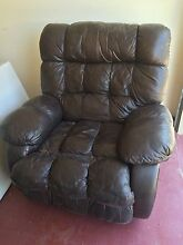 Leather rocking recliner Mount Coolum Maroochydore Area Preview