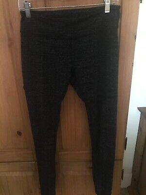 Zella M Leggings Black Gray EUC