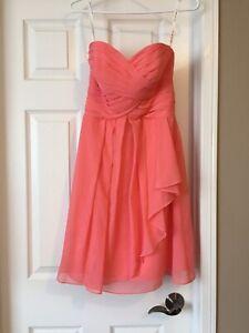 560f81fe4fa Davids bridal bridesmaid dress - coral reef