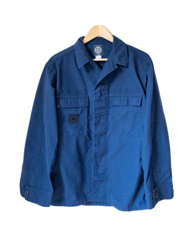 US Coast Guard Shirt Uniform Cool Vintage Embroidered Original Military Canvas