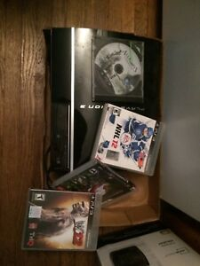 PS3 160gb w/4 games NO CONTROLLER $80obo