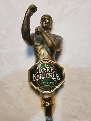 Bare Knuckle Stout Beer Vintage Boxing Figural Tap Handle Bar Pub pull! Nice!