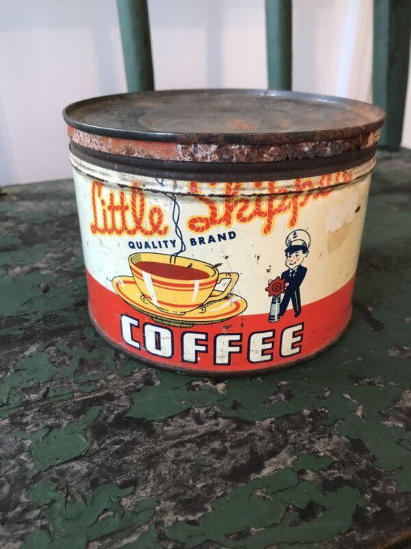 Rare Vintage Little Skipper Coffee Tin Can General Store Advertising Cincinnati