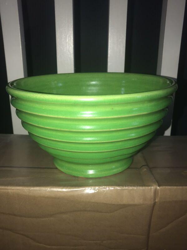 Bauer Ringware Pottery Lime Green Vintage Bowl