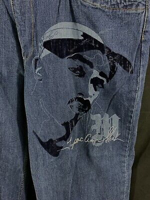 "Felt Hip Hop (Makaveli Jeans Hip Hop Tupoc Felt Picture Men's Size 36 28.5"")"