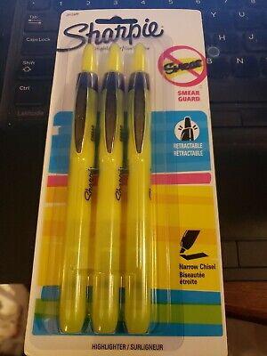 Sharpie Accent Pen-style Retractable Highlighter Fluorescent Yellow 28124pp
