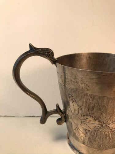 antique silver spanish colonial cup engraved