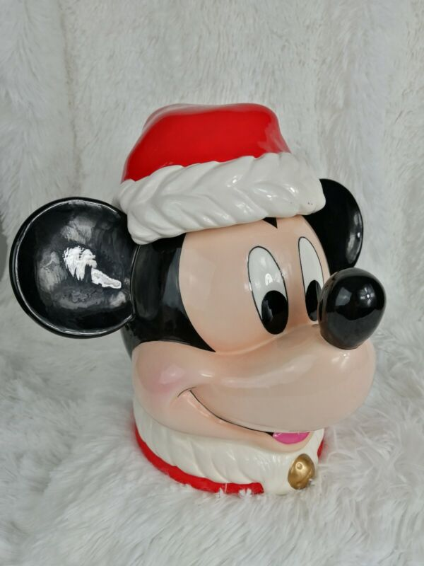 New Enesco Mickey Mouse Christmas Cookie jar Mickey & Co