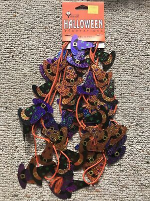 Lot of 4 Witch Hats Young Craft Halloween Garland 2008 Barn Find New In Package