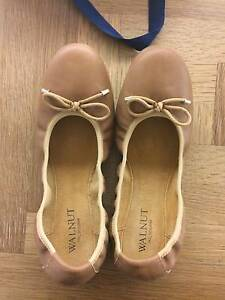 Walnut of Melbourne Chloe leather ballet flats Tan size 41 Cammeray North Sydney Area Preview