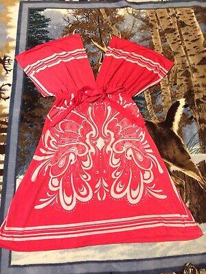Women's Cristina Love Pink & White V Neck Dress Size Medium for sale  Tiptonville