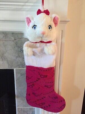 Disney Store Aristocats Marie Christmas Stocking Very Rare Stuffed Head Plush