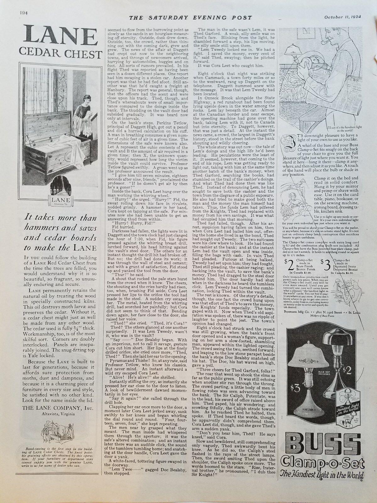 1924 Lane Cedar Chest Furniture More Than Hammers Saws And Cedar Ad