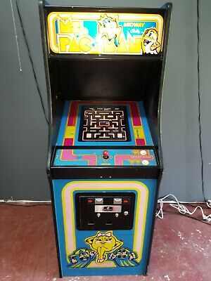 Ms PacMan FULL SIZE multigame video arcade machine plays 60 games Galaga Frogger
