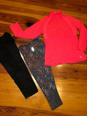 Lot Of 3 Women's Zella & Old Argosy Activewear Pants, Champion Qtr Zip Pullover MD