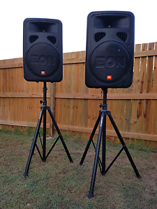 JBL EON 15 G2 speakers x 2 (incl stands) Wellington Point Redland Area Preview