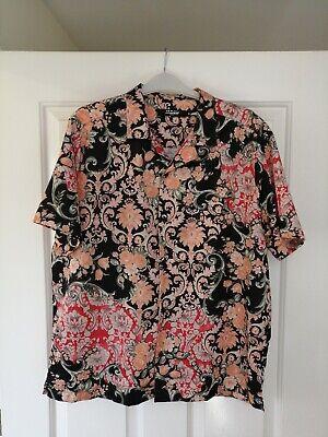 Jaded London Silk Effect (polyester) Shirt Mariachi Hawaiian Beach Medium