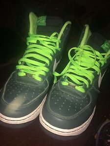 Green and black Air Force 1s Size 13 men's