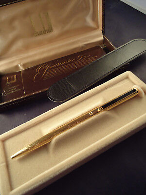 Dunhill Ballpoint Pen - Vintage 1970's - New Old Stock - Cased With Booklet