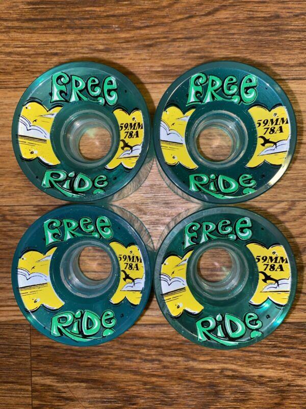 Free Ride Sector 9 Transparent Longboard/Cruiser Skateboard Wheels 59MM 78A
