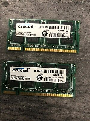 4GB (2x2GB) PC2-5300s DDR2-667MHz/DDR2-800 Laptop Memory SODIMM Intel 200pin US 2 Gb Ddr2 667 Mhz Sodimm