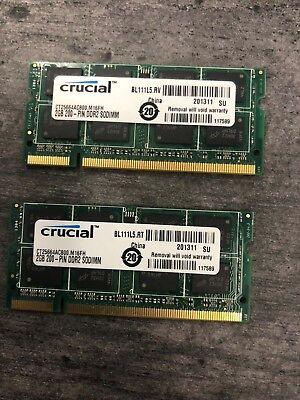 4GB (2x2GB) PC2-5300s DDR2-667MHz/PC2-6400 Laptop Memory SODIMM Intel 200pin US