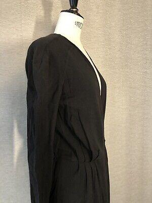 VINTAGE Alexander McQueen 1940s Style Wrap Dress Size 38