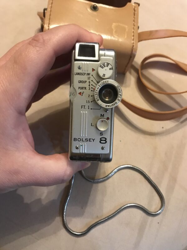 Vintage Bolsey 8 Camera with Carrying Case