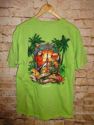 dab4ca4699 Men's Ron Jon Surf Shop Green Tee T Shirt Iguanas Parrots SZ Large L Orlando