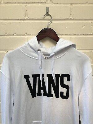 Vans Off The Wall University Hoodie Hoody Jumper Medium BNWT White