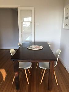 Solid wood dining table with chairs thrown in Darling Point Eastern Suburbs Preview