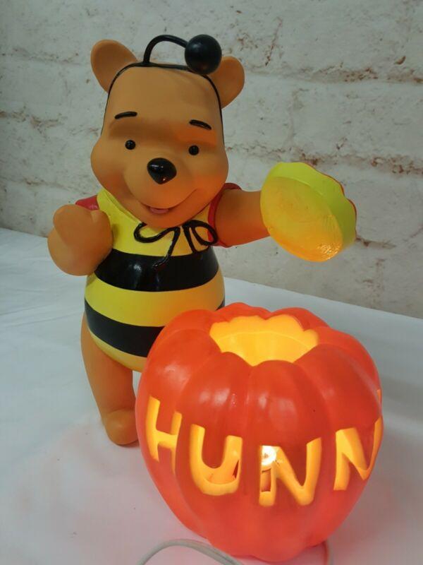 Vintage Halloween Winnie the Pooh Bumble Bee Light Decoration JOL Hunny Pot 1999